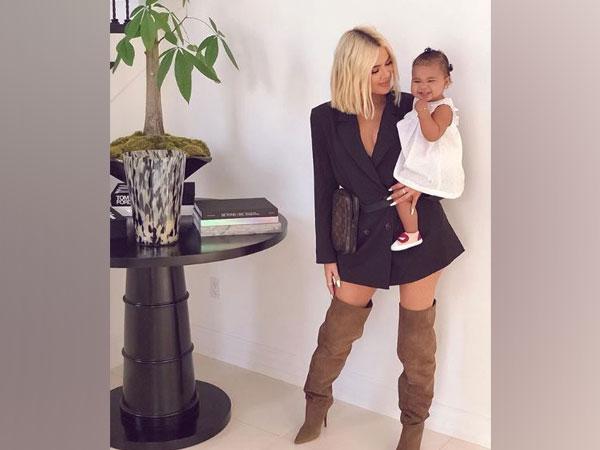 Khloe Kardashian with her daughter True Thompson, image courtesy: Instagarm