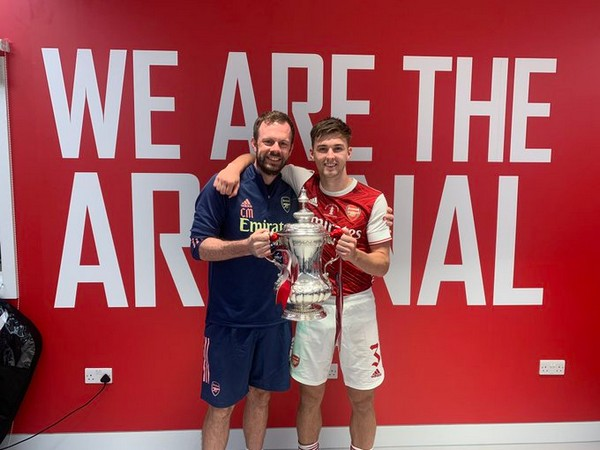 Kieran Tierney with Chris Morgan (Photo/Kieran Tierney Twitter)