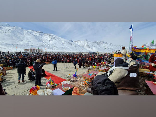 Union Minister for Sports and Youth Affairs Kiren Rijiju speaks at Zanskar Winter Sports and Youth Festival