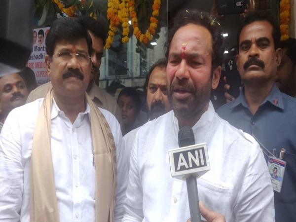 Union Minister of State for Home G Kishan Reddy speaking to ANI in Hyderabad on Sunday.