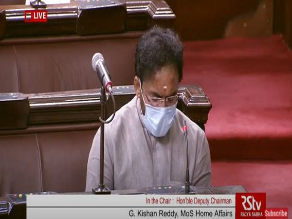 Union Minister G Kishan Reddy speaking in the Rajya Sabha on Friday.