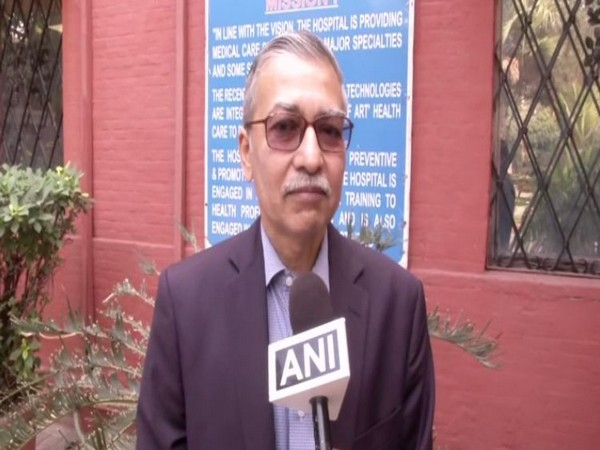 Dr Kishore Singh, Medical Director, LNJP Hospital, speaking to ANI on Sunday