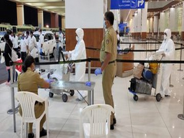 One of the 143 Indian nationals that arrived at the Cochin International Airport from Dammam, Saudi Arabia on Tuesday.