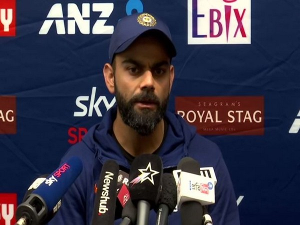 Indian skipper Virat Kohli speaking at a press conference in Wellington on Monday.