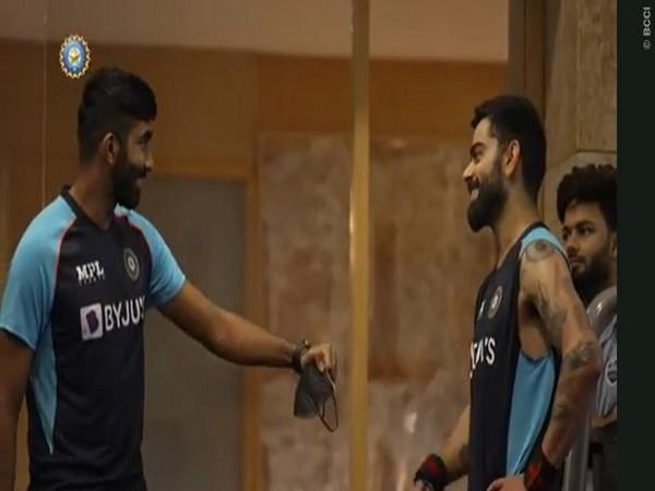 Jasprit Bumrah and Virat Kohli training in gym (Photo/ BCCI)