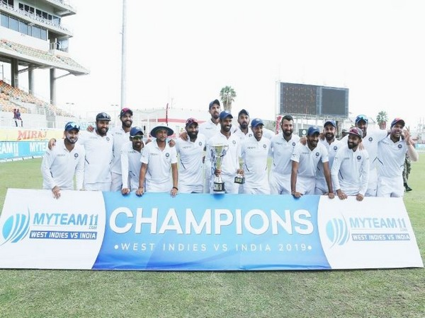 India secured a 257-run victory in the second Test match against West Indies on Tuesday. (Photo/ Virat Kohli Twitter)