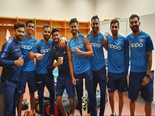 India skipper Virat Kohli shares picture with teammates on Friday. (Photo/ Virat Kohli Twitter)