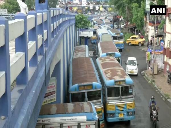 Visual of a bus depot in Kolkata. (Photo/ANI)