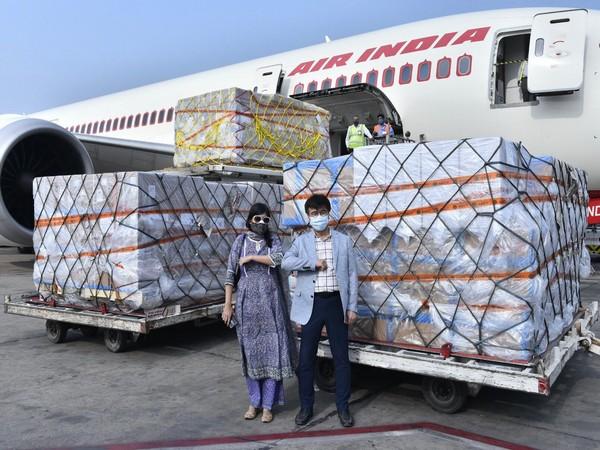 Republic of Korea sends Rapid testing kits to India (Photo/Credit: Twitter/@MEAIndia)