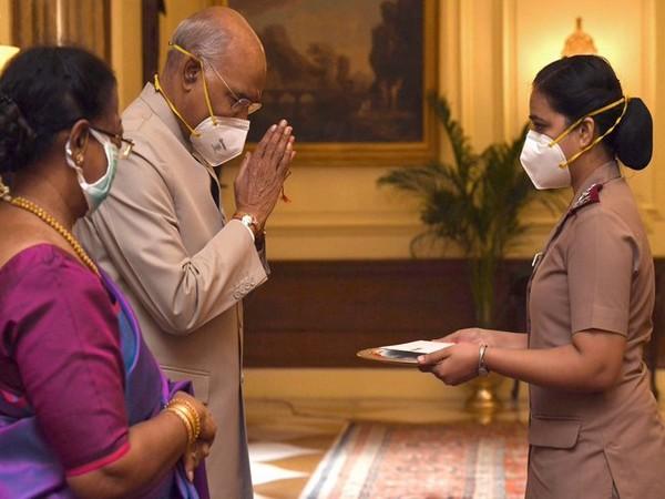 President Ram Nath Kovind on Monday celebrated Raksha Bandhan with nurses in New Delhi on Monday.