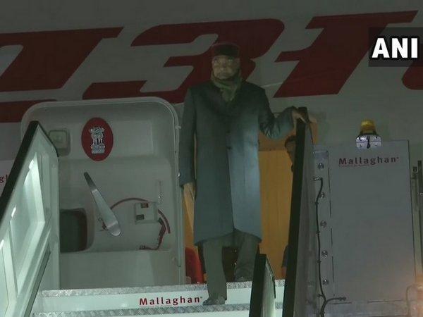 President Ram Nath Kovind arrives in Iceland (Photo/ANI)