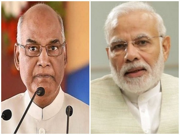 President Ram Nath Kovind and Prime Minister Narendra Modi. File photo/ANI