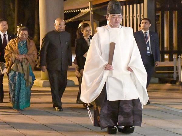 President Kovind at Shinto Meiji Shrine in Tokyo (Picture Credits: Rashtrapati Bhavan/Twitter)