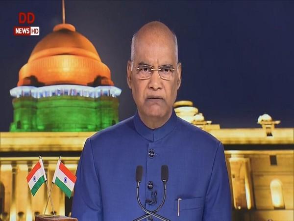 President Ram Nath Kovind (Photo courtesy: DD)