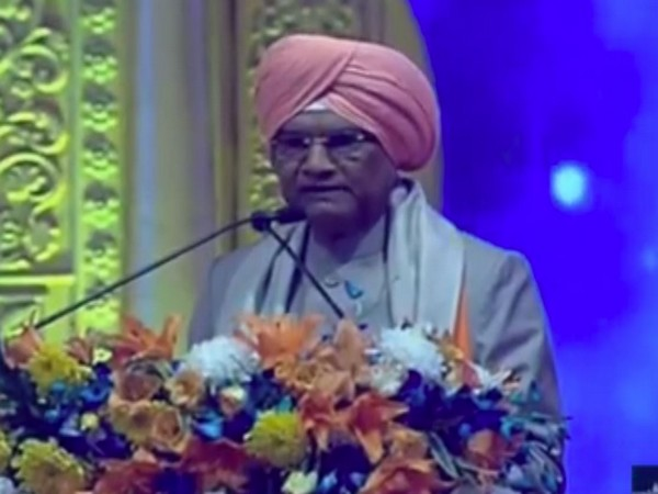President Ram Nath Kovind attending 550th birth anniversary celebrations of Guru Nanak Dev at Sultanpur Lodhi, Punjab on Tuesday. (Photo Credits: Rashtrapati Bhavan Twitter)