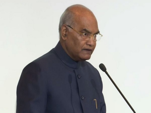 President Ram Nath Kovind addressing the University of Bern on Thursday. (Photo/ANI)