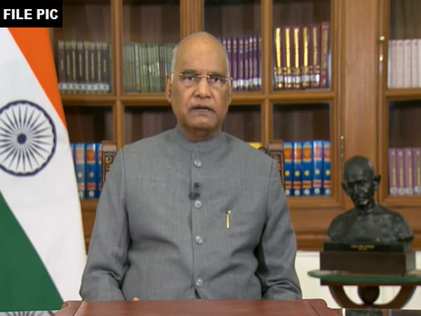 President of India, Ram Nath Kovind (File Photo/ANI)
