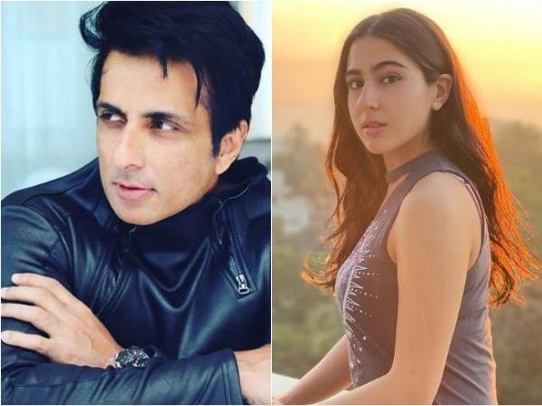 Sonu Sood and Sara Ali Khan (Image courtesy: Instagram)