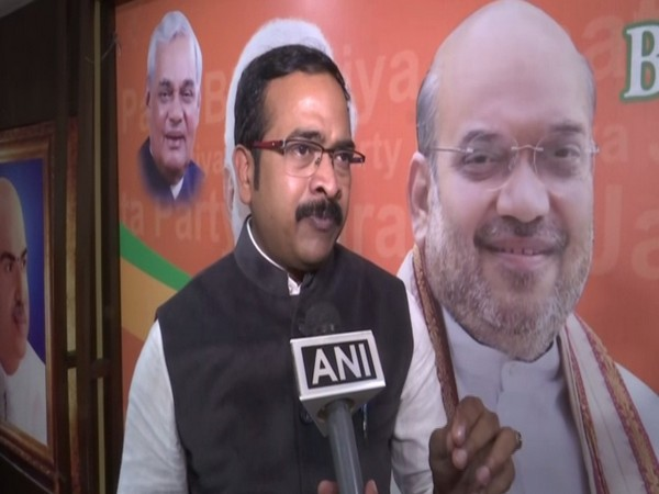 BJP spokesperson Krishna Sagar Rao talking to ANI on Tuesday. Photo/ANI