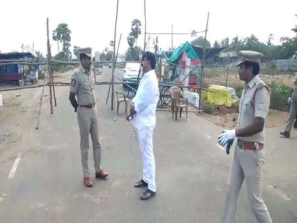 Andhra Pradesh transport minister Perni Venkatramaiah in Machilipatnam on Monday. Photo/ANI