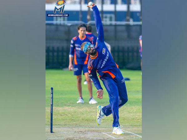 Mumbai Indians all-rounder Krunal Pandya (Photo/ Mumbai Indians Twitter)