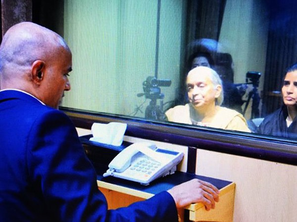 A file pic of Kubhushan Jadhav meeting his mother in 2017