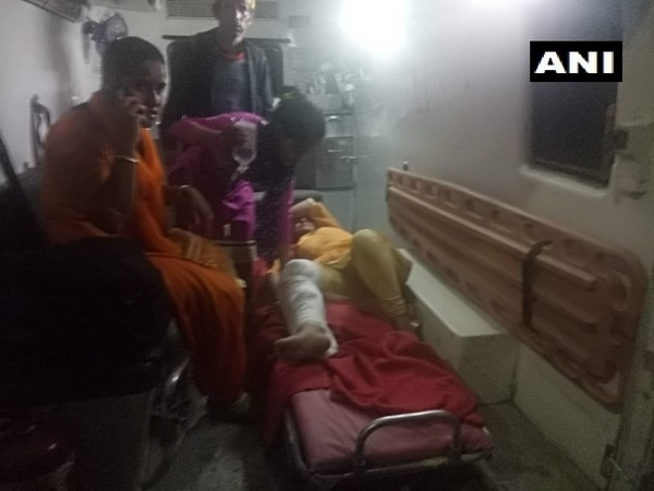 A woman injured in the accident undergoing treatment. (Photo/ANI)