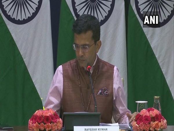 Spokesperson of the Ministry of External Affairs, Raveesh Kumar speaking to the media on Thursday