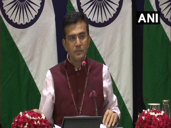 External Affairs Ministry spokesperson Raveesh Kumar during a media briefing in New Delhi on Thursday. Photo/ANI