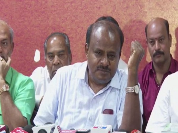 JDS leader HD Kumaraswamy at a press conference in Mysore. Photo/ANI