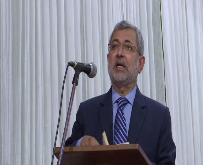 Former Supreme Court judge Justice (retd) Kurian Joseph speaking at an event in New Delhi on Friday. Photo/ANI