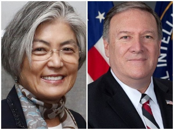 South Korean Foreign Minister Kang Kyung-wha and US Secretary of State Michael Pompeo (File photos)