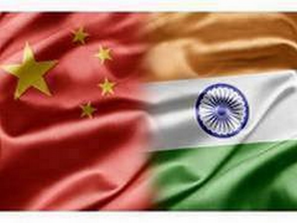 China and Indian flag