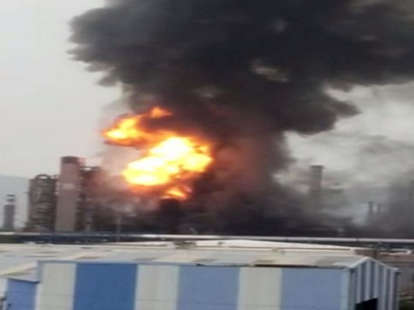 Visual of fire at HPCL