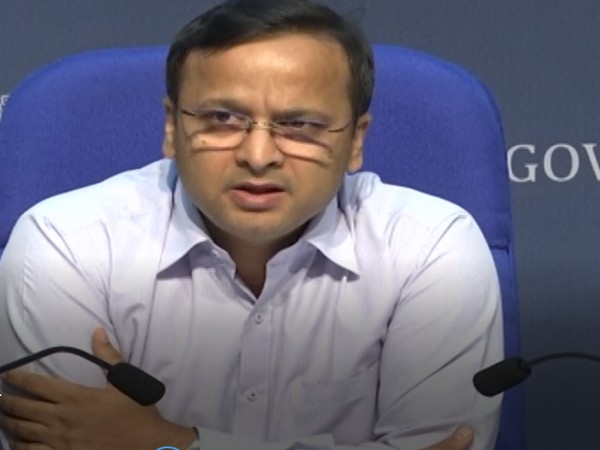 Lav Aggarwal, Joint Secretary, Ministry of Health and Family Welfare, briefing media about the COVID-19 status in the country on Monday. Photo/ANI