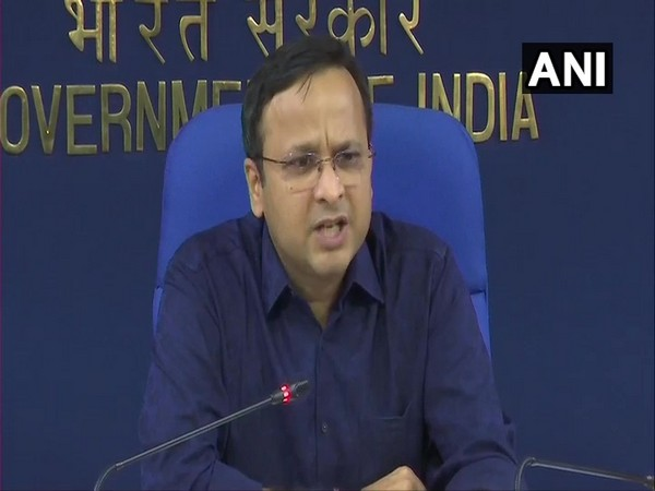 Lav Agarwal, Joint Secretary, Union Health and Family Welfare Ministry, during a press briefing in New Delhi on Tuesday. Photo/ANI