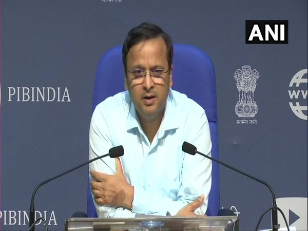 Lav Aggarwal, Joint Secretary, Health and Family Welfare, speaking at a press conference in New Delhi on Tuesday. Photo/ANI