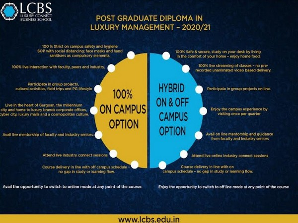 LCBS - 100 per cent on campus option and hybrid on & off campus option