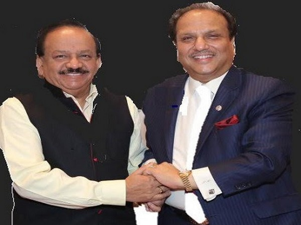Dr Harshvardhan - the Union Minister of Health and Family Welfare and past international President Lion Dr Naresh Aggarwal, Lions Clubs International (LCI) - the world's biggest service association