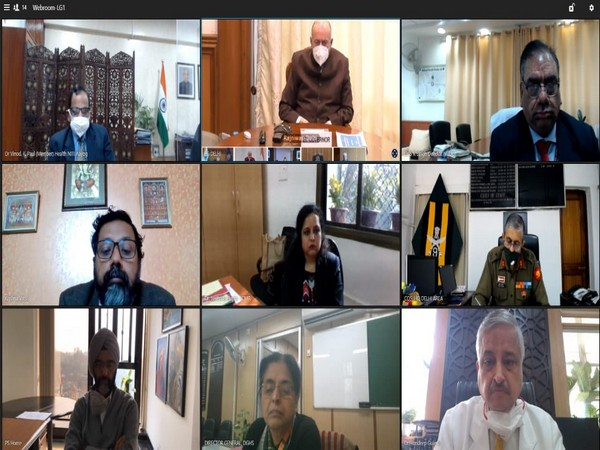 Lieutenant Governor of Delhi, Anil Baijal, virtually chairs a COVID-19 review meeting (Photo/Twitter)