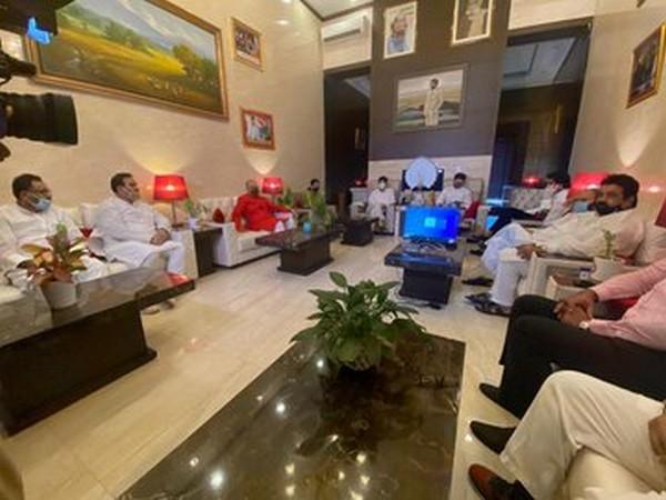 The LJP meeting underway on Sunday (Photo/ANI)
