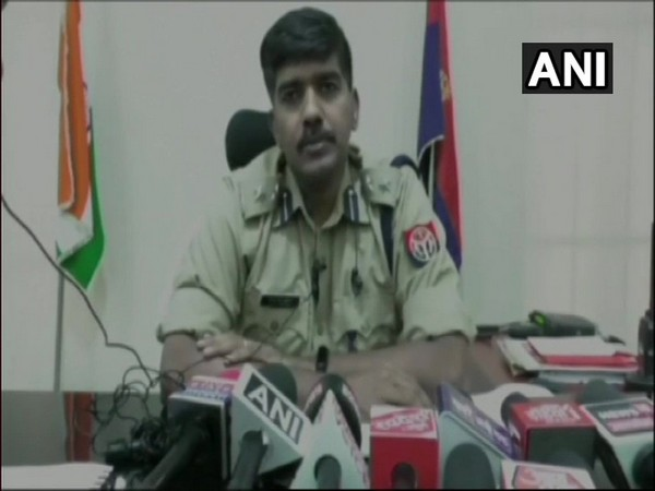 Superintendent of Police (Sitapur) LR Kumar speaking to reporters on Monday.