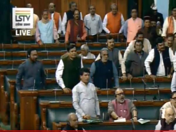 Visuals from Lok Sabha on Tuesday.
