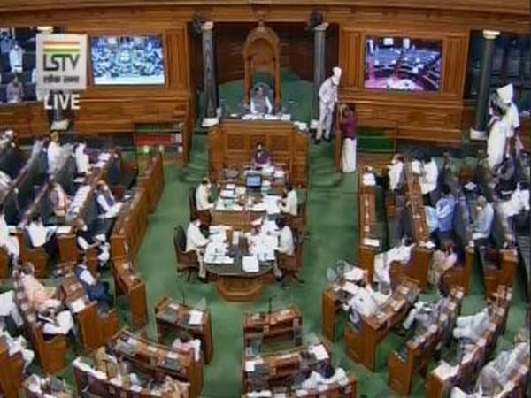 Visuals from Lok Sabha.