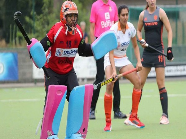 Goalkeeper Bichu Devi Kharibam (Photo/ Hockey India Twitter)