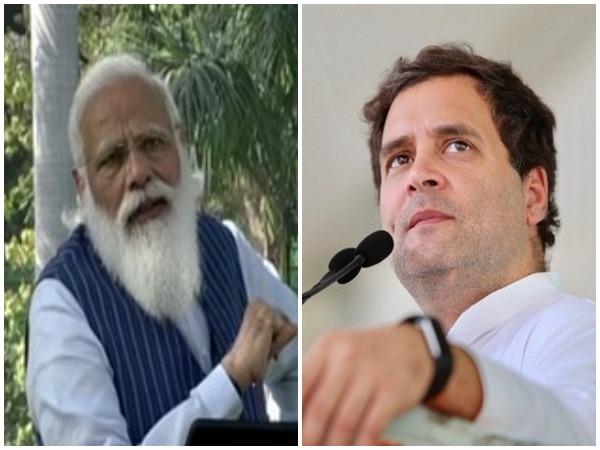 Prime Minister Narendra Modi, Congress MP Rahul Gandhi (Photo/ANI)
