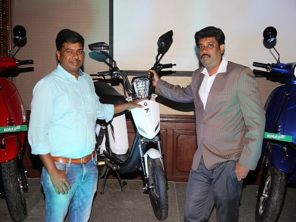 (L to R) Chandrasekar, Managing Director, CK Motors and Gopinath, Manager Business Development at the launch event