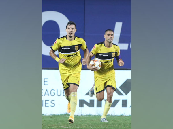 Late goals from Fran Sandaza and Aridane Santana helped HFC draw level against BFC. (Photo/ ISL)