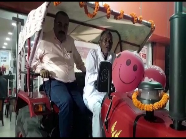 Laungi Bhuiyan, who carved out a 3-km-long canal in Gaya district received a Mahindra tractor. (Photo/ANI)