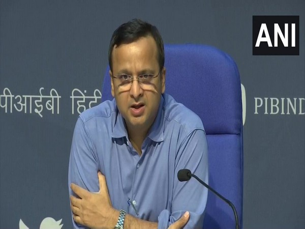 Lav Agarwal, Joint Secretary, Ministry of Health and Family Welfare, speaking to media persons in New Delhi on Monday. Photo/ANI